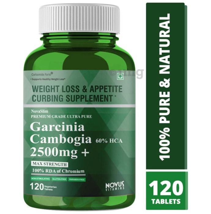 Carbamide Forte Garcinia Cambogia 60% HCA 2500mg + Max Strength 100% RDA of Chromium Vegetarian Tablet