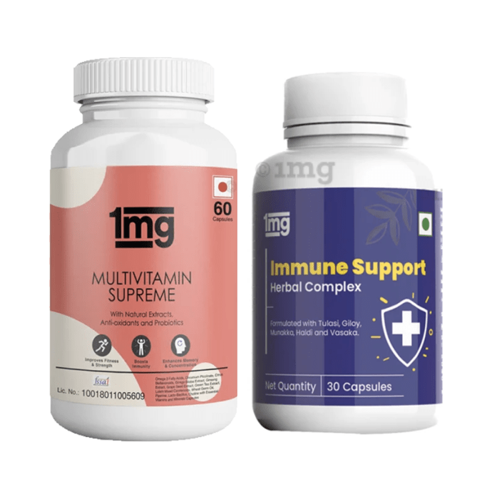 1mg Immunity Booster Combo of Multivitamin Supreme & Immune Support Herbal Complex