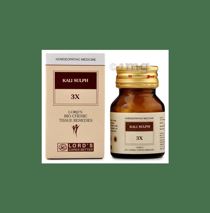 Lord's Kali Sulph Biochemic Tablet 3X