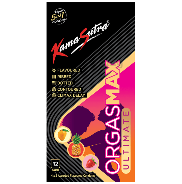 KamaSutra Orgasmax Ultimate 5 in 1 Condom Assorted