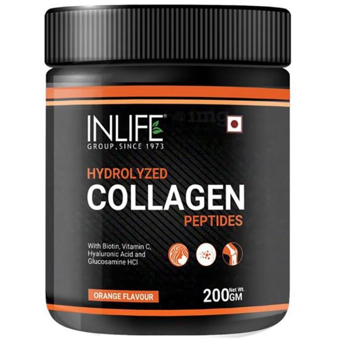 Inlife Hydrolyzed Collagen Peptides Orange