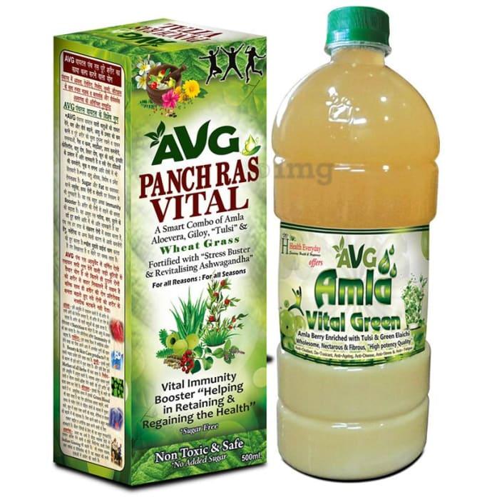 AVG Combo Pack of Amla Vital Green 1000ml & Panch Ras Vital 500ml