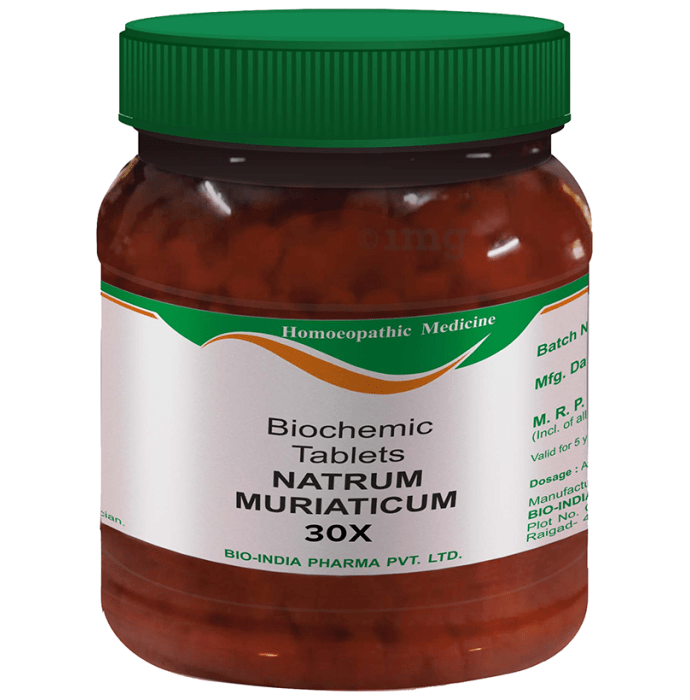Bio India Natrum Muriaticum Biochemic Tablet 30X