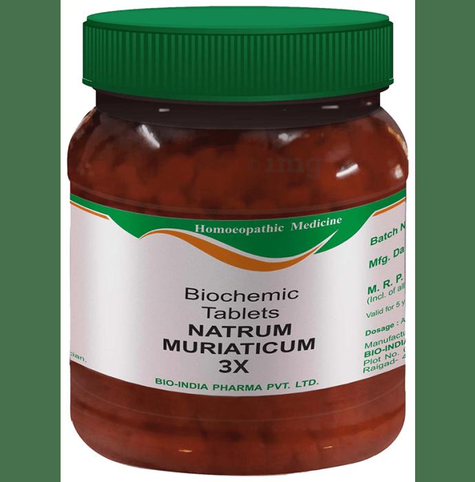 Bio India Natrum Muriaticum Biochemic Tablet 3X