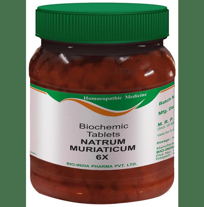 Bio India Natrum Muriaticum Biochemic Tablet 6X
