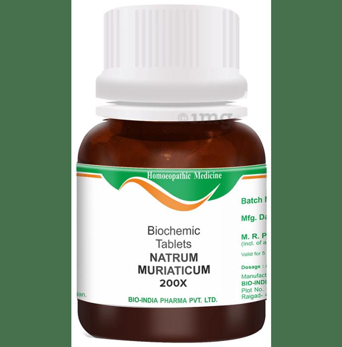 Bio India Natrum Muriaticum Biochemic Tablet 200X