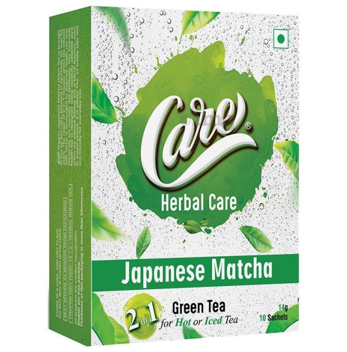 Care Herbal Care 2 In 1 Green Tea (14gm Each) Japanese Matcha