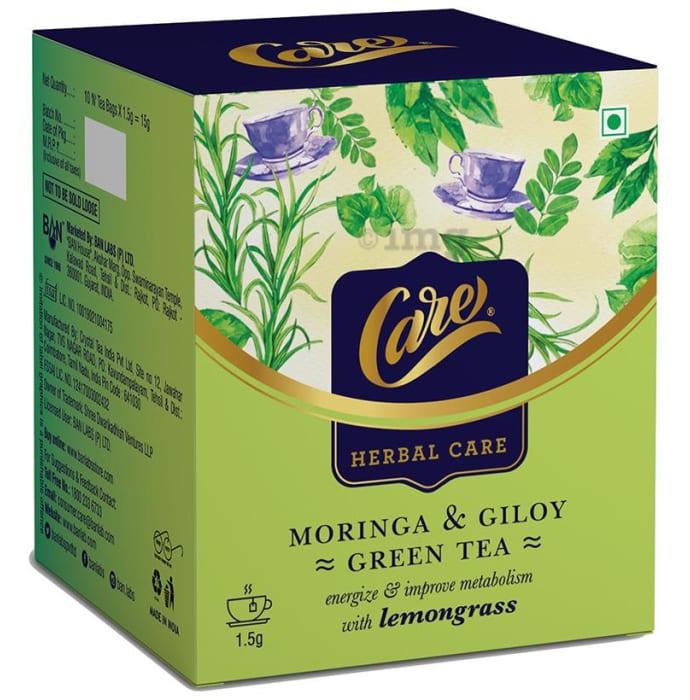 Care Herbal Care Moringa & Giloy Green Tea (1.5gm Each) Lemongrass
