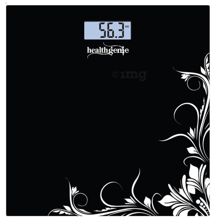 Healthgenie 3375 Electronic Digital Weighing Machine Black Pattern