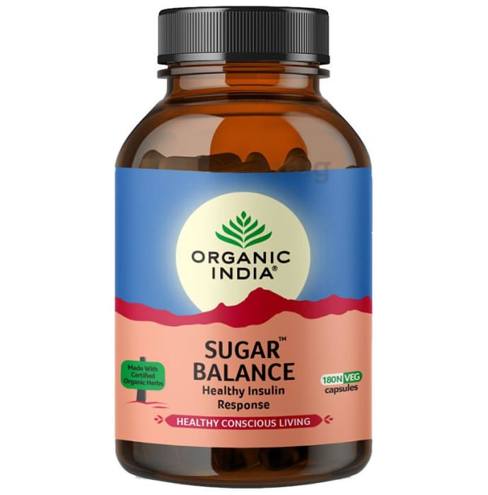 Organic India Sugar Balance Veg Capsule