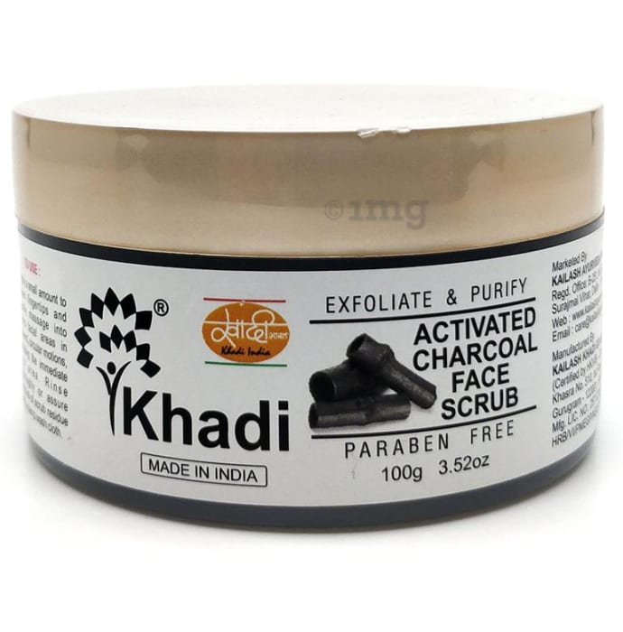 Khadi India Activated Charcoal Face Scrub