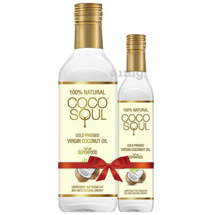 Coco Soul 100% Natural Cold Pressed Virgin Coconut Oil 1L with 250ml Free