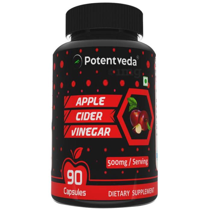 Potentveda Apple Cider Vinegar 500mg Capsule