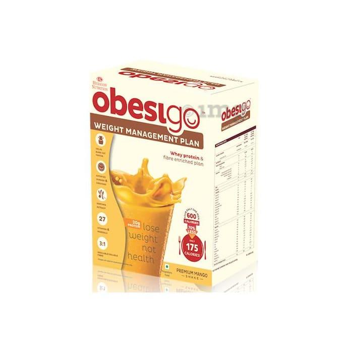 Obesigo Whey Protein 58gm Premium Mango Sachet