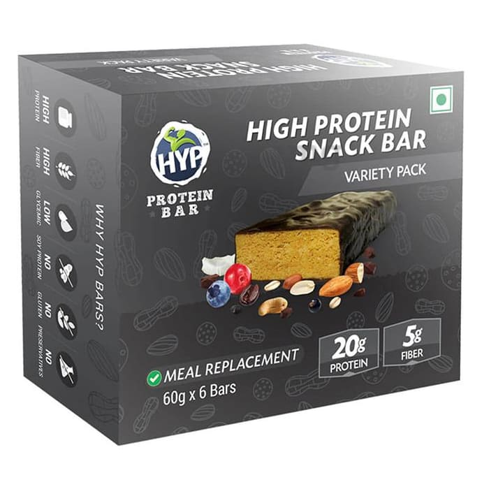 HYP Variety Pack High Protein Snack Bar (60gm Each)