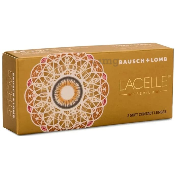 Bausch & Lomb Lacelle Premium Contact Lens (Optical Power -2.25) Green Spherical