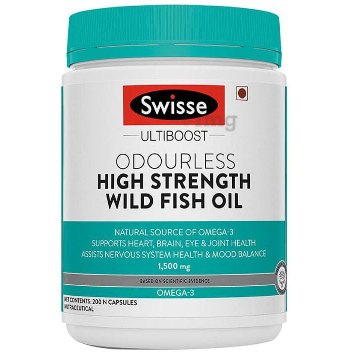 Swisse Ultiboost Odourless High Strength Wild Fish Oil 1500mg Capsule