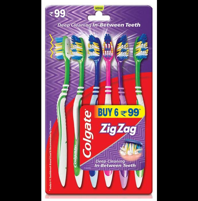 Colgate Zig Zag Bristle Medium Toothbrush