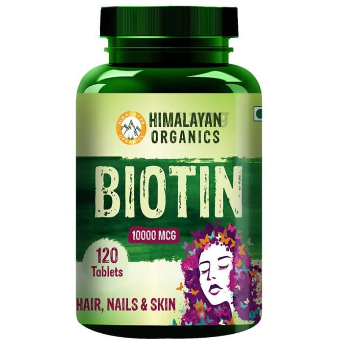 Himalayan Organics Biotin 10000mcg Tablet