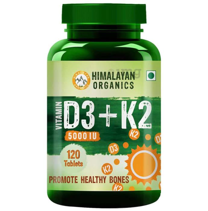 Himalayan Organics Vitamin D3 Plus K2 5000 IU Tablet