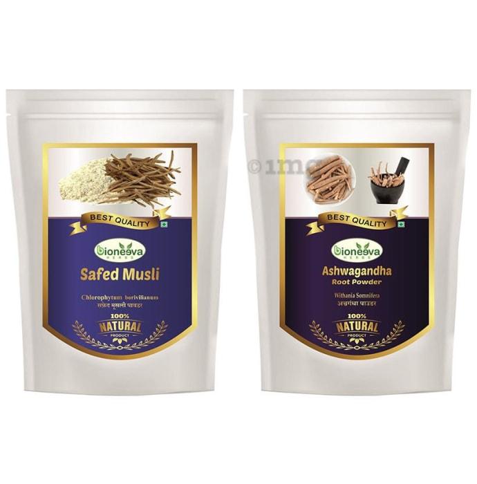 Bioneeva Herbs Combo Pack of Ashwagandha Root & Safed Musli Powder (100gm Each)