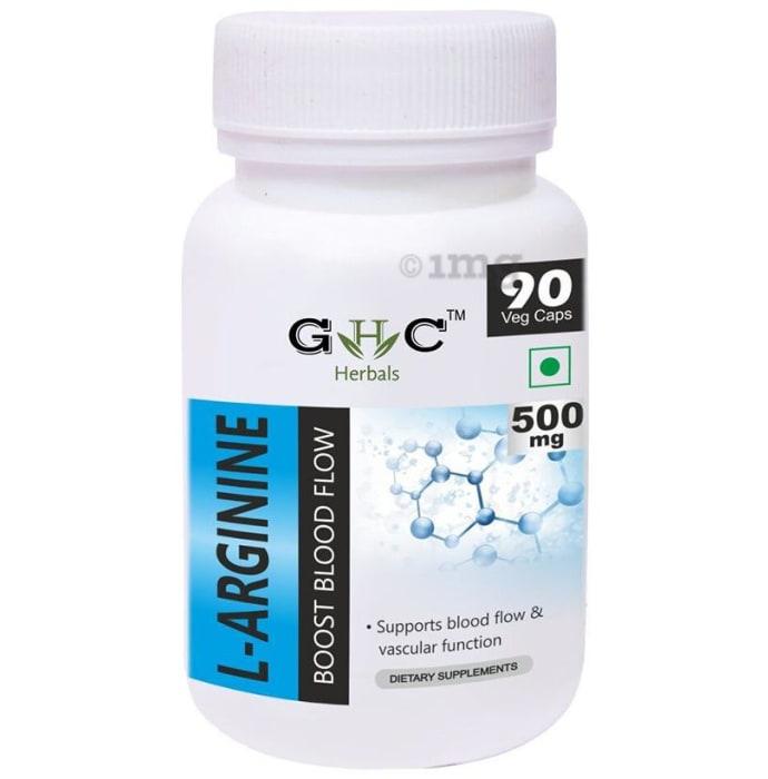 GHC Herbals L-Arginine 500mg Veg Caps