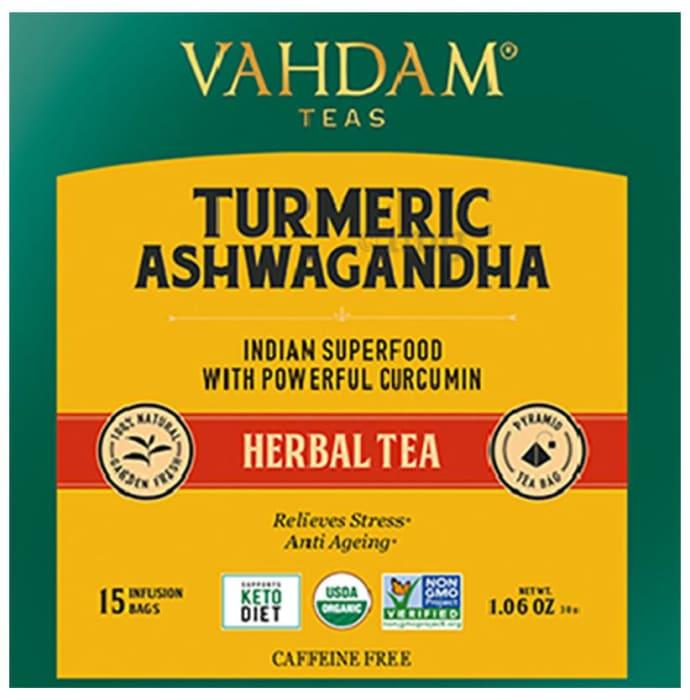 Vahdam Teas Herbal Tea Tisane (2gm Each) Turmeric Ashwagandha