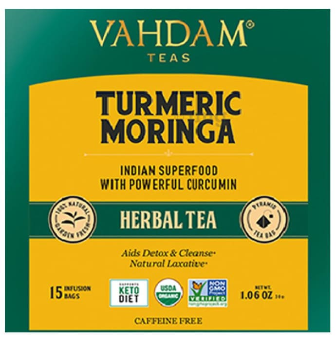 Vahdam Teas Herbal Tea Tisane (2gm Each) Turmeric Moringa