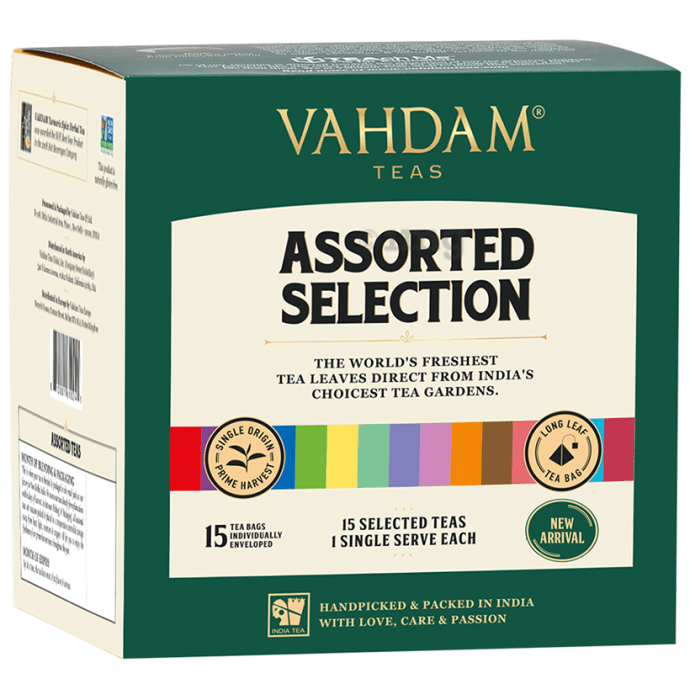 Vahdam Teas Assorted Selection (2gm Each)