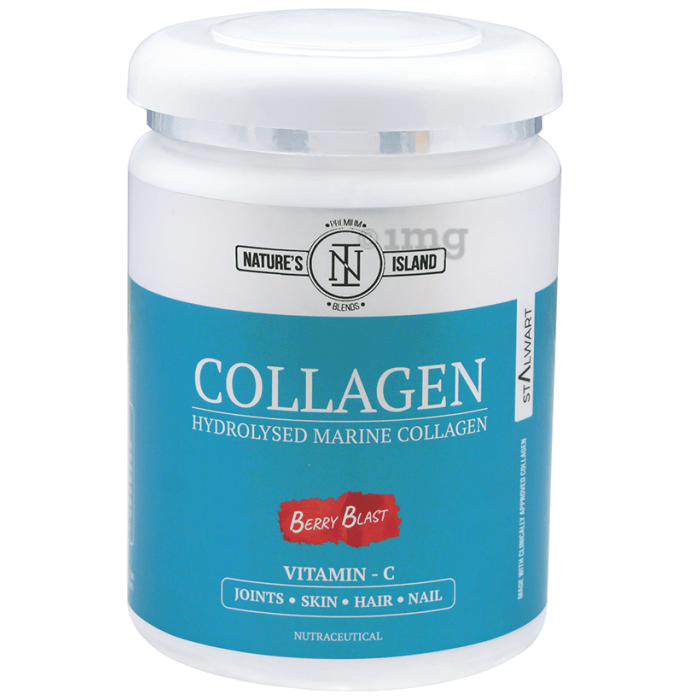 Nature's Island Hydrolysed Marine Collagen with Vitamin C Berry Blast
