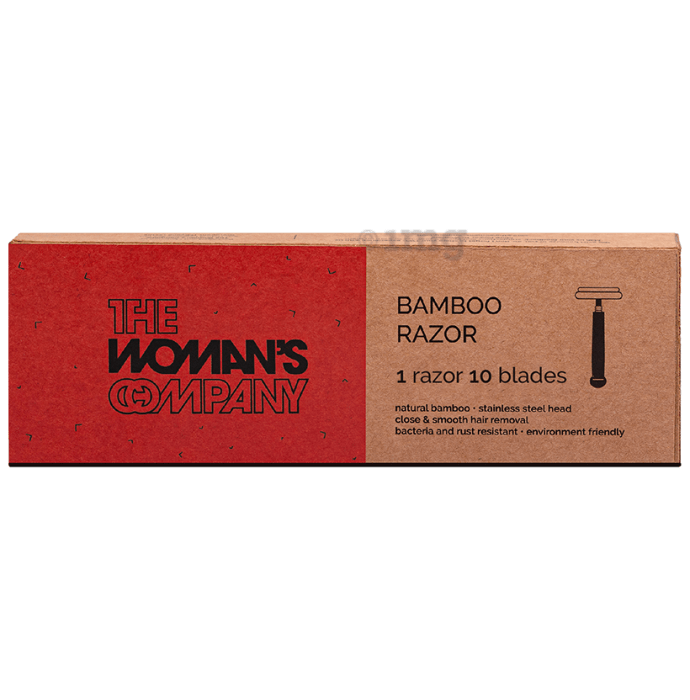 The Woman's Company Bamboo Razor with 10 Blades