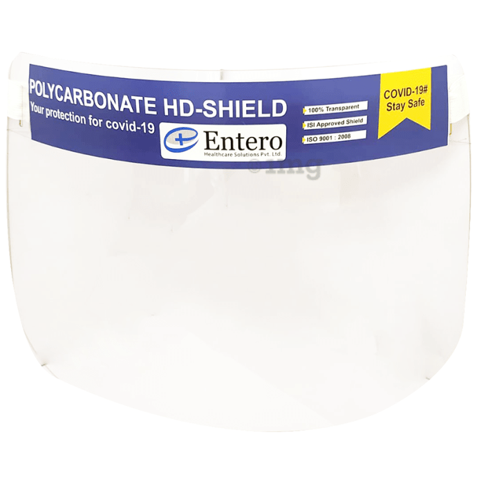 Entero 800 micron Polycarbonate HD Face Shield