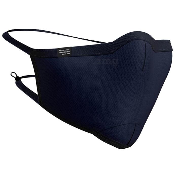 Cross Color Free Size Navy Ultra Shield CC 95 Reusable Cotton Face Mask