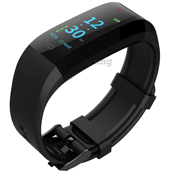 GOQii Vital 3.0 Body Temperature Tracker with 3 Months Personal Coaching Subscription Black