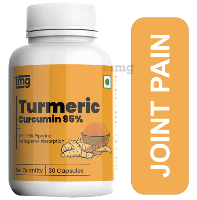 1mg Turmeric Curcumin 95% with Piperine Capsule