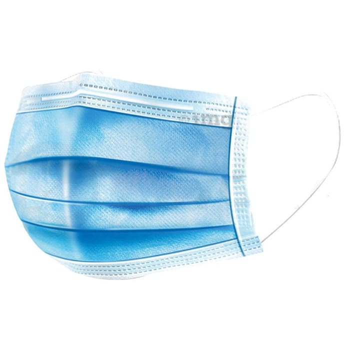 1Mile Blue Universal 3 Ply Disposable Surgical Face Mask with Nose Pin