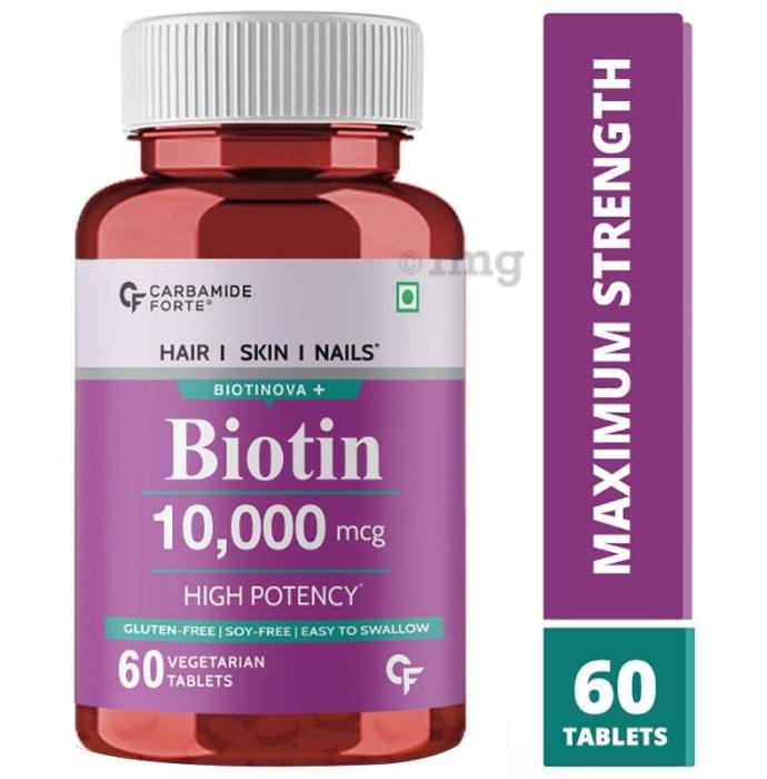 Carbamide Forte Biotin 10,000mcg Vegetarian Tablet