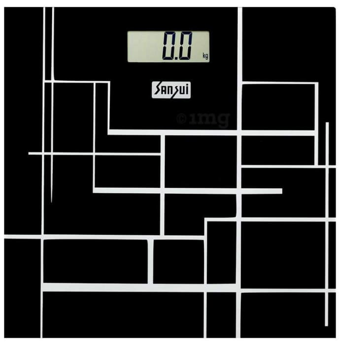 Sansui Electronics Personal Digital Weighing Scale (180 Kg) Black