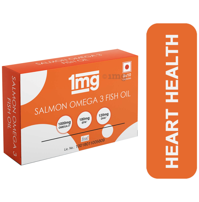 1mg Salmon Omega 3 Fish Oil Capsule