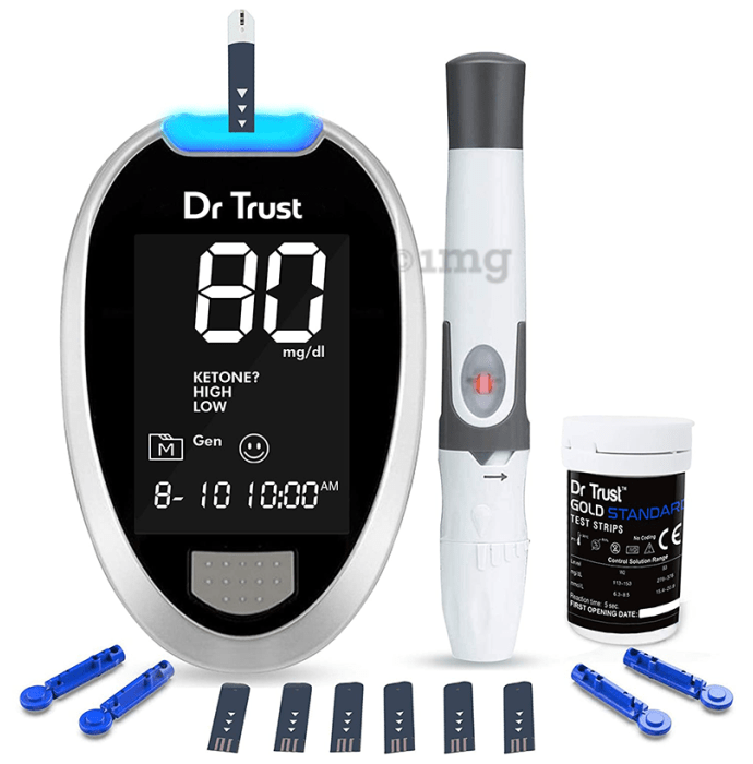 Dr Trust USA Gold Standard Blood Glucose Monitoring System with 60 Test Strip
