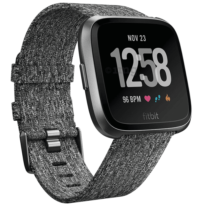 Fitbit Versa Smart Watch Charcoal Woven Special Edition