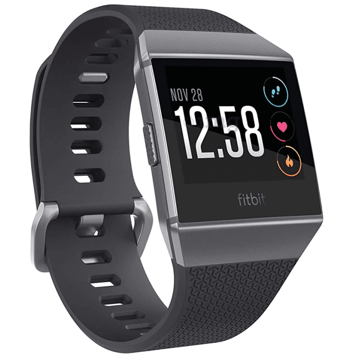 Fitbit Ionic Smart Watch Charcoal-Smoke Grey