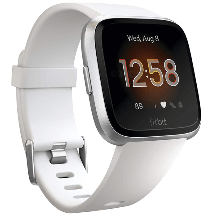 Fitbit Versa Lite Smart Watch White-Silver