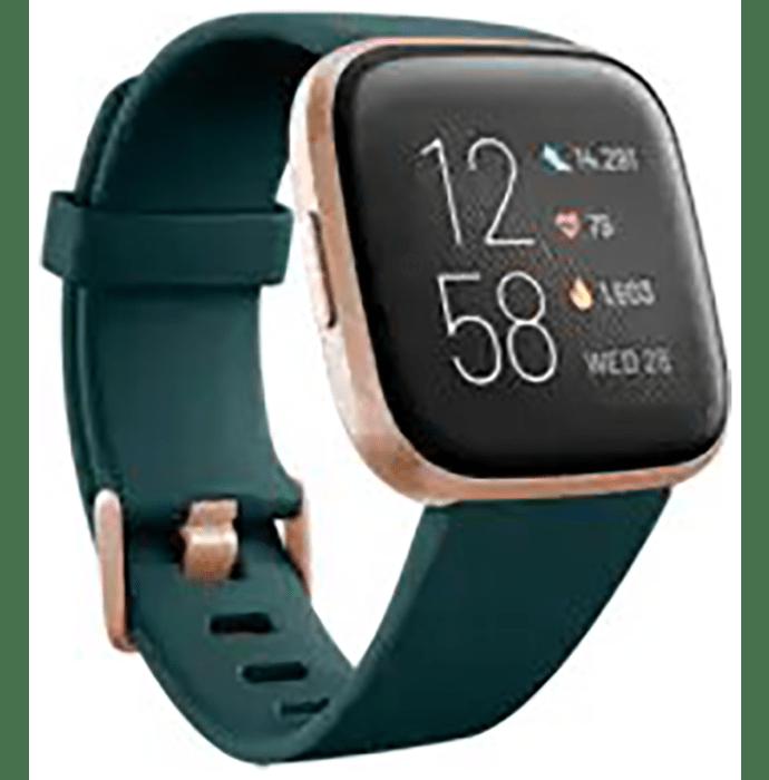 Fitbit Versa 2 Smart Watch Emerald-Copper Rose