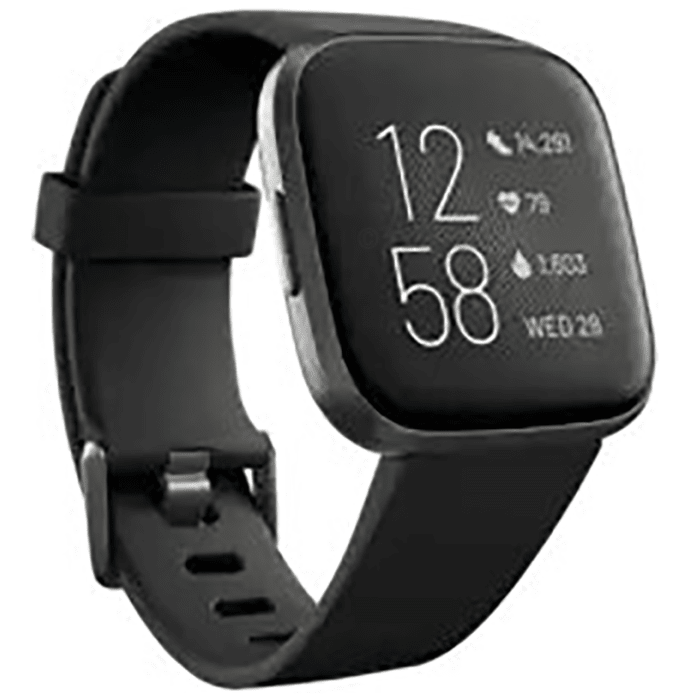 Fitbit Versa 2 Smart Watch Black-Carbon