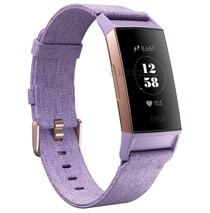 Fitbit Charge 3 Smart Watch Lavender Woven Special Edition
