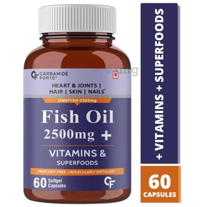 Carbamide Forte Fish Oil 2500mg + Vitamin & Superfoods Softgel Capsule