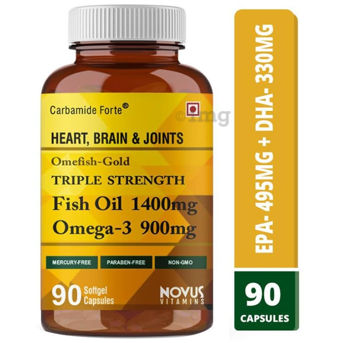Carbamide Forte Triple Strength Fish Oil 1400mg Omega 3, 900mg Softgel Capsule