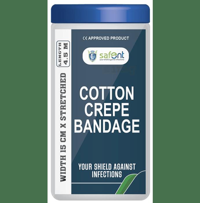 Safent Cotton Crepe bandage 15cm x 4.5m