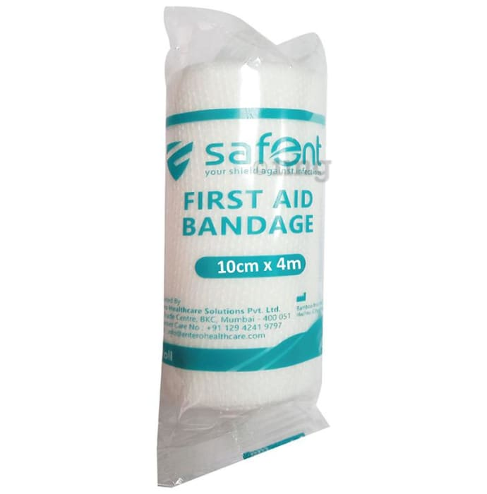 Safent First Aid Bandage 10cm x 4m